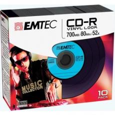 Médiá CD-R 700MB 52x Vinyl Slim 10pack EMTEC