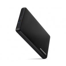 "AXAGON EE25-SLC, USB-C 3.2 Gen 1 - SATA 6G 2.5"" SLIDE box, bezšroubkový, černý"