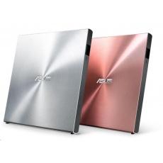 ASUS DVD SDRW-08U5S-U/PINK/G/AS, External Slim DVD-RW, pink, USB + Cyberlink Power2Go 8