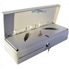 Virtuos pokladní zásuvka Flip-top FT-460C4 - s kabelem, se zamykacím krytem, bílá