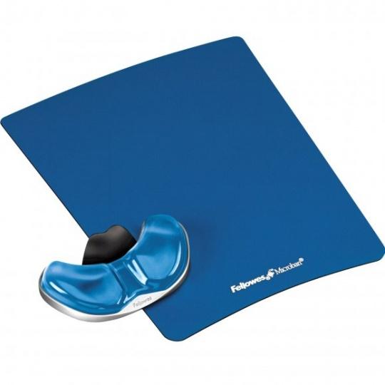 Podložka pod myš a zápěstí Fellowes Palm Health-V CRYSTAL gelová modrá