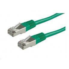 Roline FTP Patch kabel,15m cat.5e, (Class D) zelený