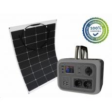 Viking bateriový generátor AC600, 600W, šedá + solární panel LE100
