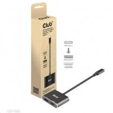 Club3D hub MST (Multi Stream Transport) USB3.2 Gen2 Type-C(DP Alt-Mode) na DisplayPort + HDMI 4K60Hz (M/F)