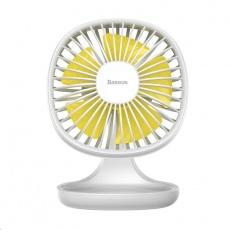 Baseus stolní mini ventilátor Bílá