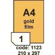 RAYFILM Lesklé zlaté polypropylenové laser etikety 10ks/A4 *R0559.1123G