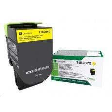 Lexmark C332HC0 Azurová vysokokapacitní tisková kazeta z vratného programu