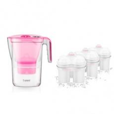 Filtračná kanvica Vida MEI Pink + 3ks filtrov BWT
