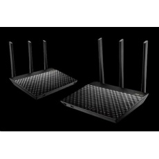 Rozbaleno - ASUS RT-AC67U (2-pack) Gigabit Dualband Wireless AC1900 Router, AiMesh Wi-Fi System, bazar