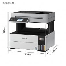 EPSON tiskárna ink EcoTank L6490, A4, 1200x4800dpi, 37ppm, USB, Duplex, 3 roky záruka po registraci