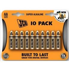 JCB SUPER alkalická baterie LR06, blistr 10 ks