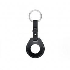 COTEetCI kožené pouzdro na klíče H-series pro Apple AirTag, černá