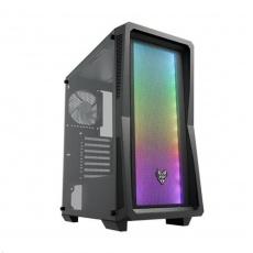 Fortron skříň Midi Tower CMT212 Black, A.RGB light bar