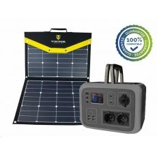Viking bateriový generátor AC600, 600W, šedá + solární panel L110