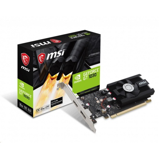 MSI VGA NVIDIA GeForce GT 1030 2G LP OC, 2GB GDDR5, 1xHDMI, 1xDP