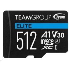 TEAM MicroSDXC karta 512GB ELITE A1 V30 UHS-I U3 + SD adapter