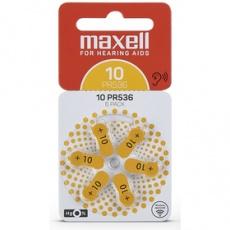 Batéria AZ10/PR536 batérie zink. 6ks MAXELL