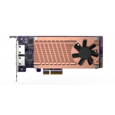 QNAP QM2-2P2G2T rozšiřující karta 2xM.2 PCle NVMe SSD, 2x2.5GbE