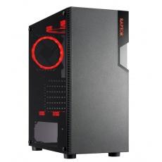 CRONO skříň MT- F-150 Raptor,  MidiTower bez zdroje, průhledná bočnice, 1xUSB 3.0, 2xUSB 2.0, 2x3.5HDD slot, 3x2.5HDD sl