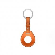 COTEetCI kožené pouzdro na klíče H-series pro Apple AirTag, oranžová
