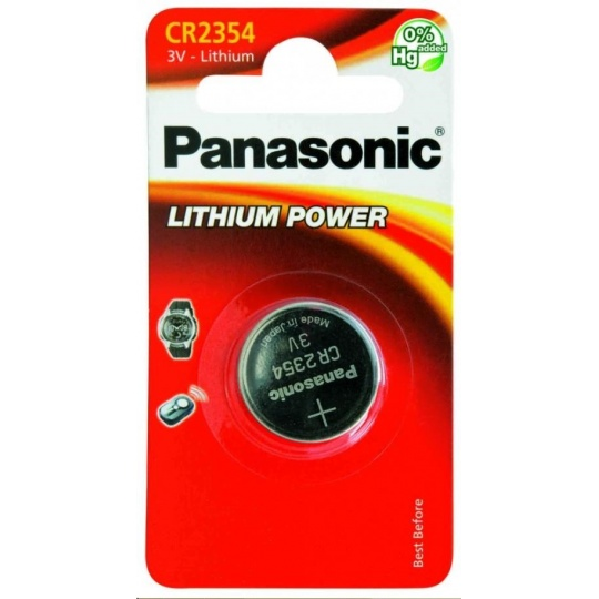 PANASONIC Lithiová baterie (knoflíková) CR-2354EL/1B  3V (Blistr 1ks)
