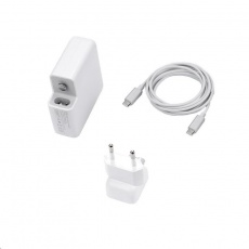 COTEetCI nabíjecí adaptér 96W s USB-C pro Apple MacBook s kabelem USB-C do USB-C 2m, bílá