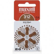 Batéria AZ312/PR41 batérie zink. 6ks MAXELL