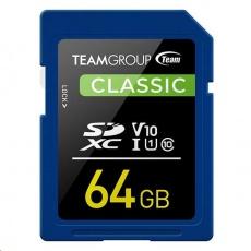 TEAM SDXC karta 64GB U1 (R:80MB/s, W:15MB/s)