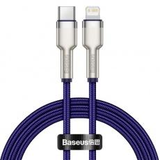 Baseus Cafule Series nabíjecí / datový kabel USB-C na Lightning PD 20W 2m, fialová