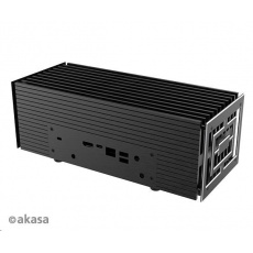 AKASA skříň Turing A50, fanless case, černá