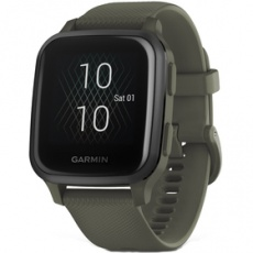 Smart hodinky Venu Sq Music, Slate/Green Band GARMIN
