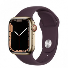 Apple Watch Series 7 Cell, 41mm Gold/Steel Case/D.Cherry SportBand