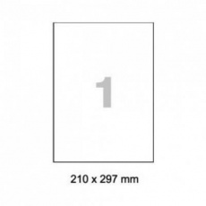RAYFILM Fólia matná biela samolepiaca laser 100ks/A4  *R05021123A poškozená krabice