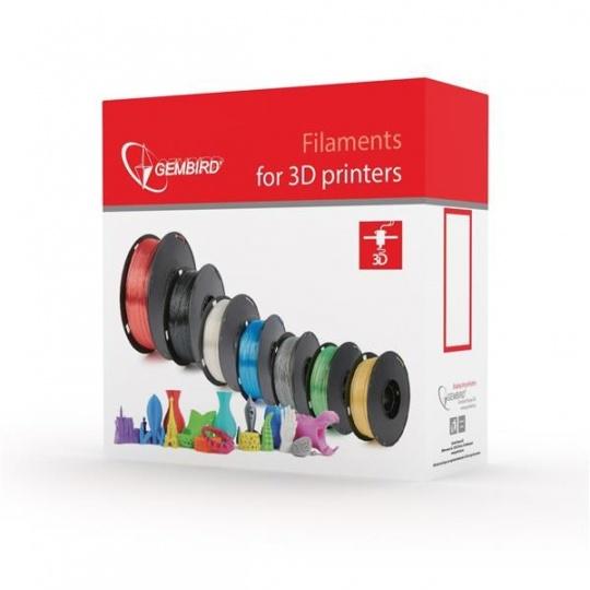 GEMBIRD Tisková struna (filament) PLA, 1,75mm, 1kg, stříbrná