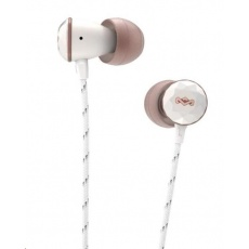MARLEY Nesta - Rose Gold, sluchátka do uší s ovladačem a mikrofonem (3-tlačítkový)