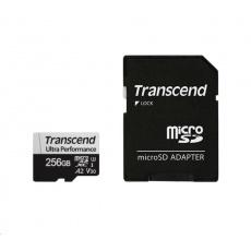 TRANSCEND MicroSDXC karta 256GB 340S, UHS-I U3 A2 Ultra Performace 160/125 MB/s