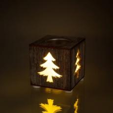 Podstavec na čajovú sviečku dekor stromček 1 LED RXL 353 podst. sviečky strom WW RETLUX