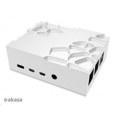 AKASA case Gem, pro Raspberry Pi 4 Model B, hliník, stříbrná