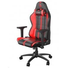 SPC Gear herní židle SR400 / imitace kůže / černo-červená