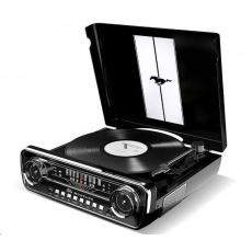 ION Mustang LP Black Polo-automatický gramofon vyniká neotřelým retro vzhledem inspirovaný Fordem Mustangem