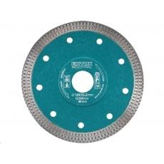 Extol Industrial (8703042) kotouč diamantový řezný turbo Thin Cut, 125x22,2mm, suché i mokré řezání