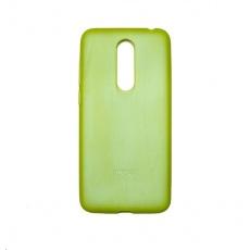 MEIZU TPU zadní kryt + HD ochranná folie pro Meizu M6T, limekově zelená