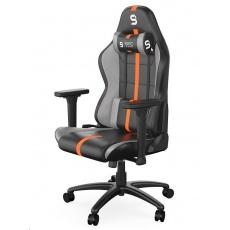 SPC Gear herní židle SR400 / imitace kůže / černo-oranžová