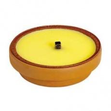 Vonné sviečky voskové CITRONELA v terakotovej miske Prices