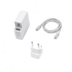 COTEetCI nabíjecí adaptér 61W s USB-C pro Apple MacBook s kabelem USB-C do USB-C 2m, bílá