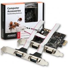 AXAGON PCEA-S4, PCIe adaptér - 4x sériový port (RS232)