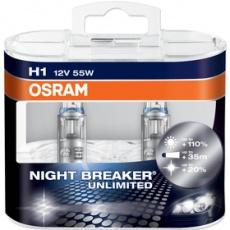 Autožiarovka H1 NIGHT BREAKER UNLIMITED Duo-Box OSRAM