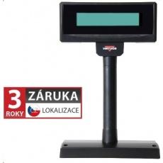 Virtuos LCD zákaznický displej Virtuos FL-2024LW 2x20, USB, 5V, černý