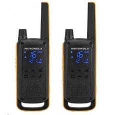 Motorola vysílačka TLKR T82 Extreme (2 ks, dosah až 10 km), IPx4, černo/žlutá