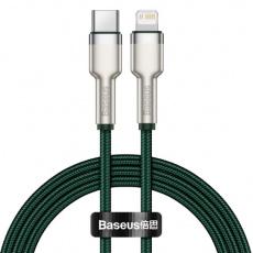 Baseus Cafule Series nabíjecí / datový kabel USB-C na Lightning PD 20W 2m, zelená